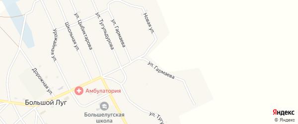 Улица Гармаева на карте улуса Большого Луга с номерами домов