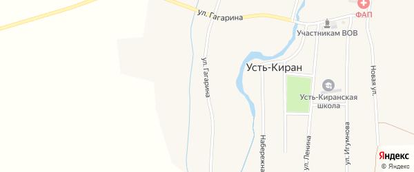 Улица Гагарина на карте села Усть-Кирана с номерами домов