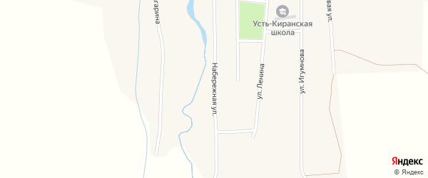 Набережная улица на карте села Усть-Кирана с номерами домов
