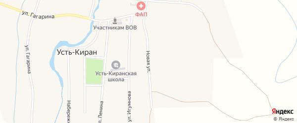 Новая улица на карте села Усть-Кирана с номерами домов