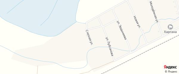 Степная улица на карте улуса Харгана с номерами домов