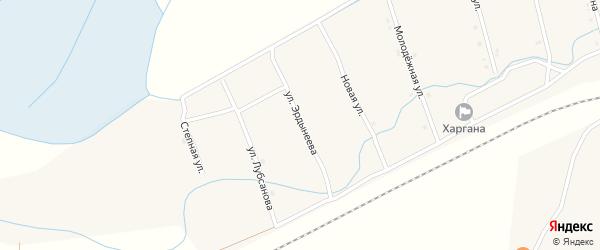 Улица Эрдынеева на карте улуса Харгана с номерами домов