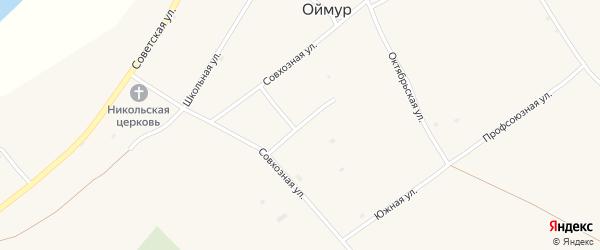 Молодежная улица на карте села Оймура с номерами домов