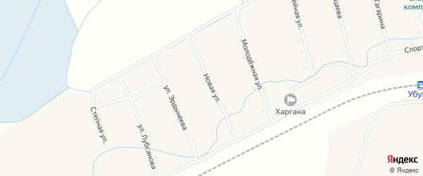 Новая улица на карте улуса Харгана с номерами домов