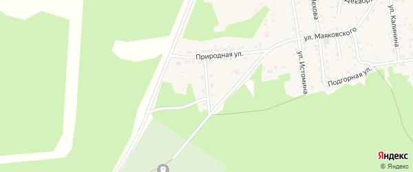 Природный переулок на карте поселка Селенгинска с номерами домов