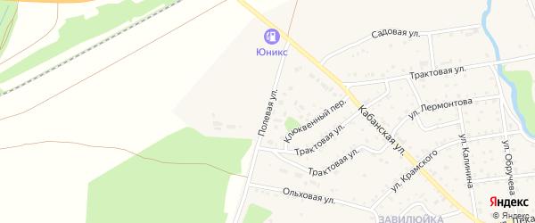 Полевая улица на карте поселка Селенгинска с номерами домов