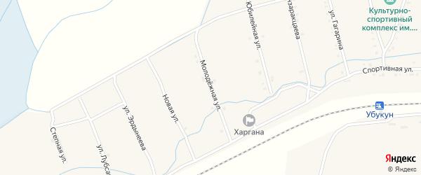 Молодежная улица на карте улуса Харгана с номерами домов