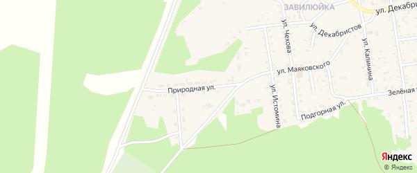 Природная улица на карте поселка Селенгинска с номерами домов