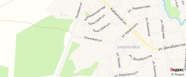 Ольховая улица на карте поселка Селенгинска с номерами домов