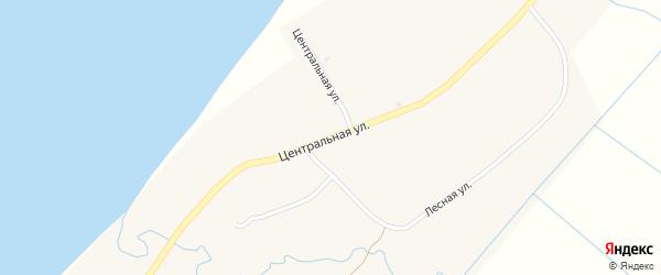 Центральная улица на карте села Оймура с номерами домов