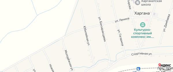 Юбилейная улица на карте улуса Харгана с номерами домов