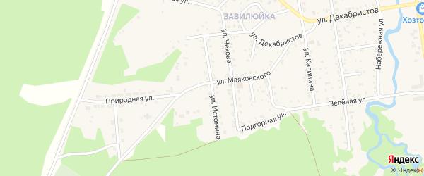 Улица Истомина на карте поселка Селенгинска с номерами домов