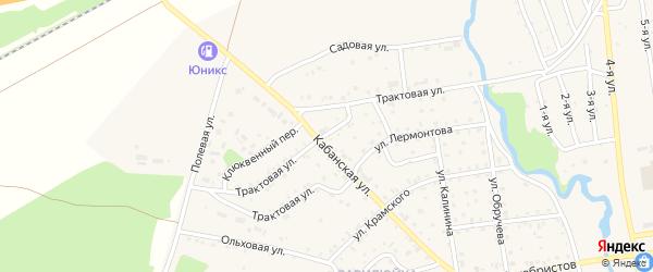 Трактовая улица на карте поселка Селенгинска с номерами домов