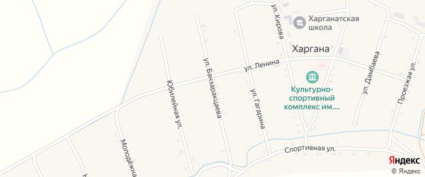 Улица Банзаракцаева на карте улуса Харгана с номерами домов