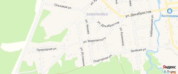 Улица Чехова на карте поселка Селенгинска с номерами домов