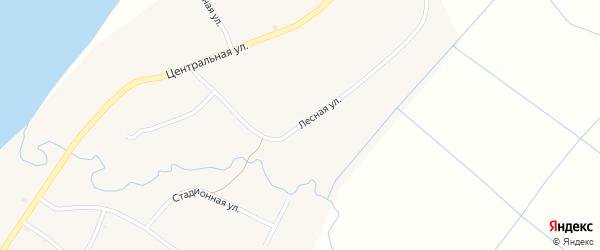 Лесная улица на карте села Оймура с номерами домов