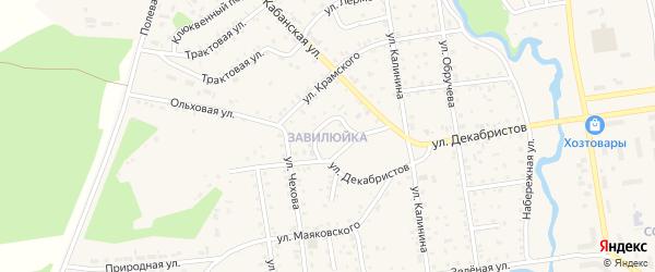 Территория Завилюйка на карте поселка Селенгинска с номерами домов