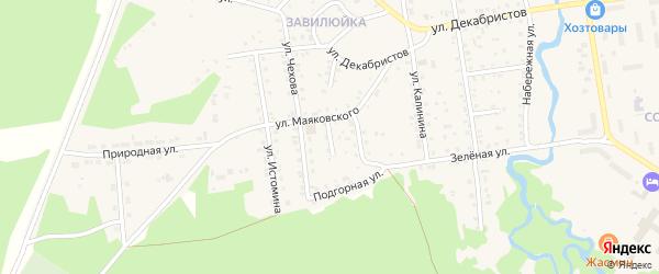 Пионерский переулок на карте поселка Селенгинска с номерами домов