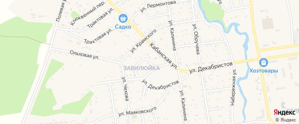 Кольцевой переулок на карте поселка Селенгинска с номерами домов