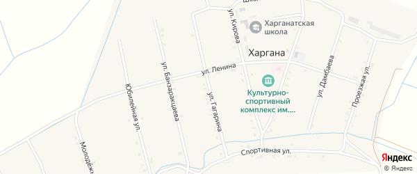 Улица Гагарина на карте улуса Харгана с номерами домов