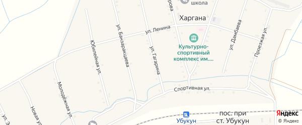 Спортивная улица на карте улуса Харгана с номерами домов