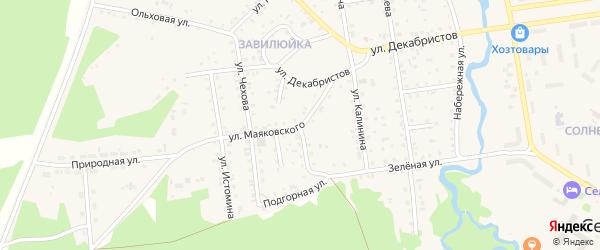 Улица Маяковского на карте поселка Селенгинска с номерами домов