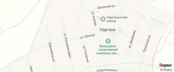 Улица Ленина на карте улуса Харгана с номерами домов