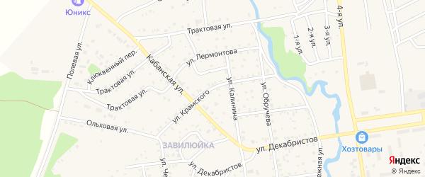 Улица Крамского на карте поселка Селенгинска с номерами домов