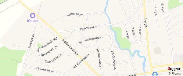 Улица Лермонтова на карте поселка Селенгинска с номерами домов