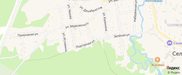 Подгорная улица на карте поселка Селенгинска с номерами домов