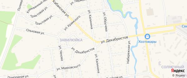 Улица Калинина на карте поселка Селенгинска с номерами домов