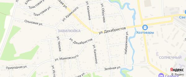Улица Декабристов на карте поселка Селенгинска с номерами домов