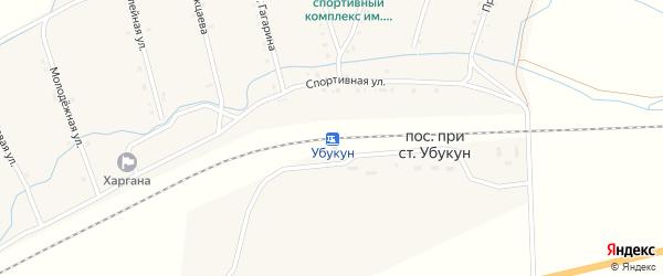 Станция Убукун на карте улуса Харгана с номерами домов