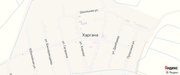 Улица Кирова на карте улуса Харгана с номерами домов