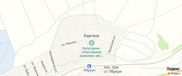 Карта улуса Харгана в Бурятии с улицами и номерами домов