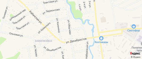 Базарная улица на карте поселка Селенгинска с номерами домов