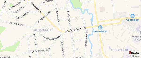 Улица Обручева на карте поселка Селенгинска с номерами домов