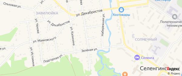 Улица 8 Марта на карте поселка Селенгинска с номерами домов