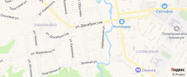 Речная улица на карте поселка Селенгинска с номерами домов
