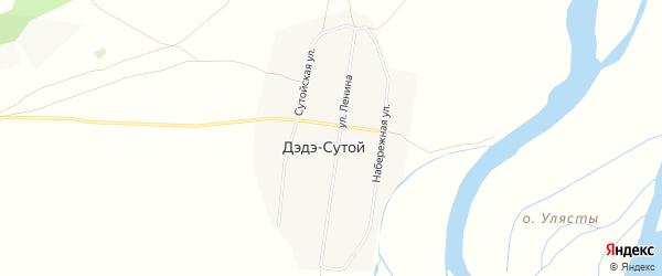 Карта Дэдэ-Сутой улуса в Бурятии с улицами и номерами домов