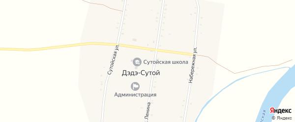 Сутойская улица на карте Дэдэ-Сутой улуса с номерами домов