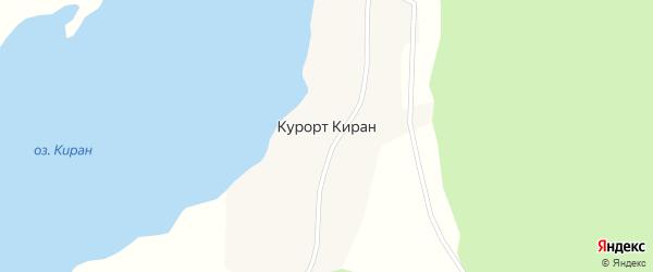 Озерная улица на карте поселка Курорта Кирана с номерами домов