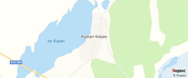 Карта поселка Курорта Кирана в Бурятии с улицами и номерами домов