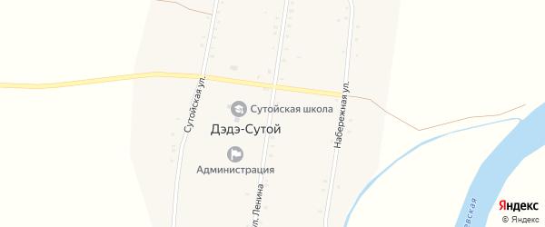 Улица Ленина на карте Дэдэ-Сутой улуса с номерами домов