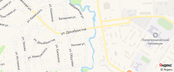 Набережная улица на карте поселка Селенгинска с номерами домов