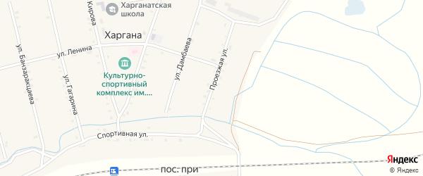 Проезжая улица на карте улуса Харгана с номерами домов