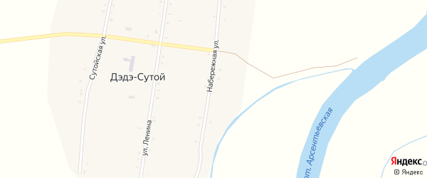 Набережная улица на карте Дэдэ-Сутой улуса с номерами домов