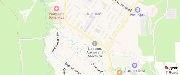 Южный микрорайон на карте поселка Селенгинска с номерами домов