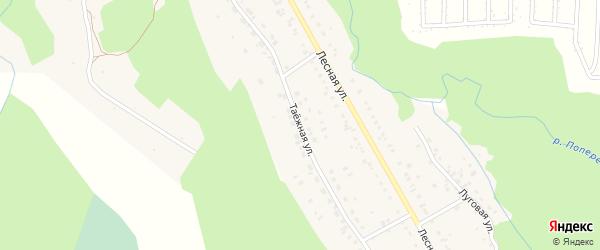 Таежная улица на карте садового некоммерческого товарищества Черемушки с номерами домов