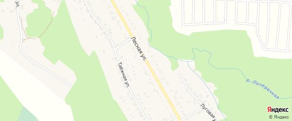 Лесная улица на карте поселка Селенгинска с номерами домов